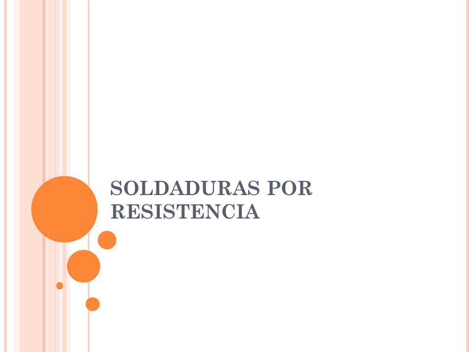 La soldadura por resistencia es un grupo de procesos de soldadura por fusión que utiliza una combinación de calor y presión para obtener la coalescencia.