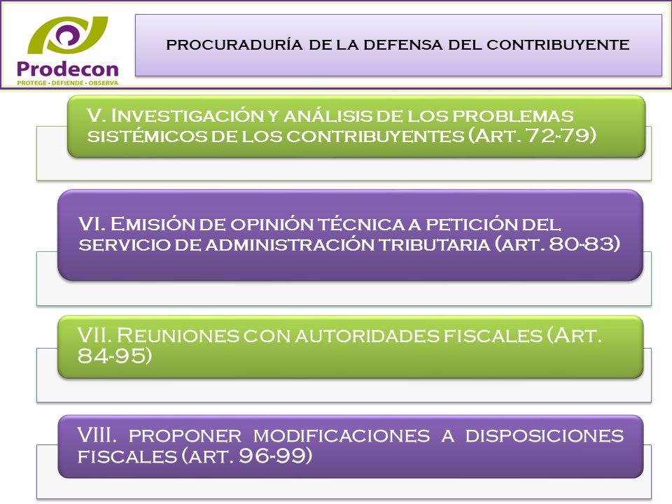 PROCURADURÍA DE LA DEFENSA DEL CONTRIBUYENTE V.