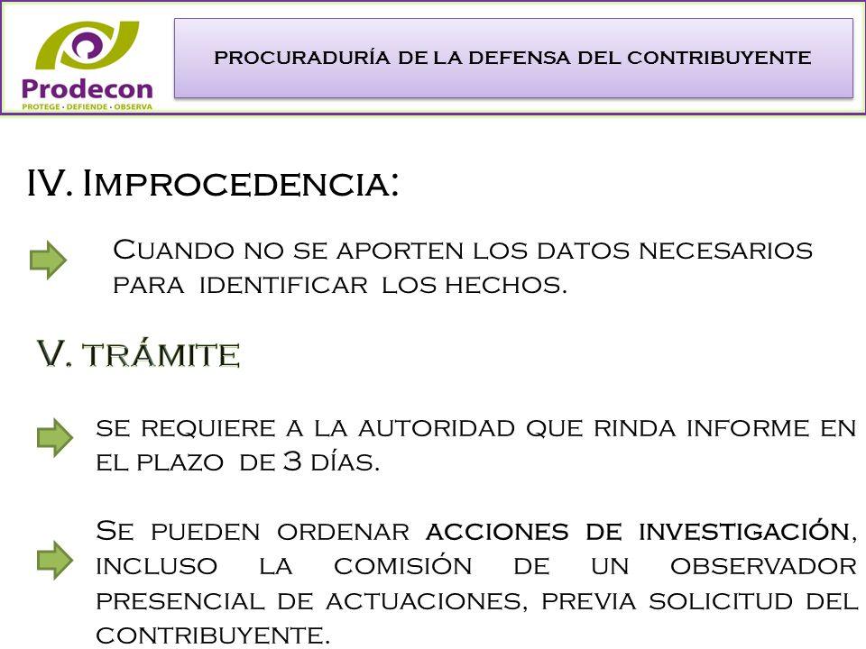 PROCURADURÍA DE LA DEFENSA DEL CONTRIBUYENTE se requiere a la autoridad que rinda informe en el plazo de 3 días.