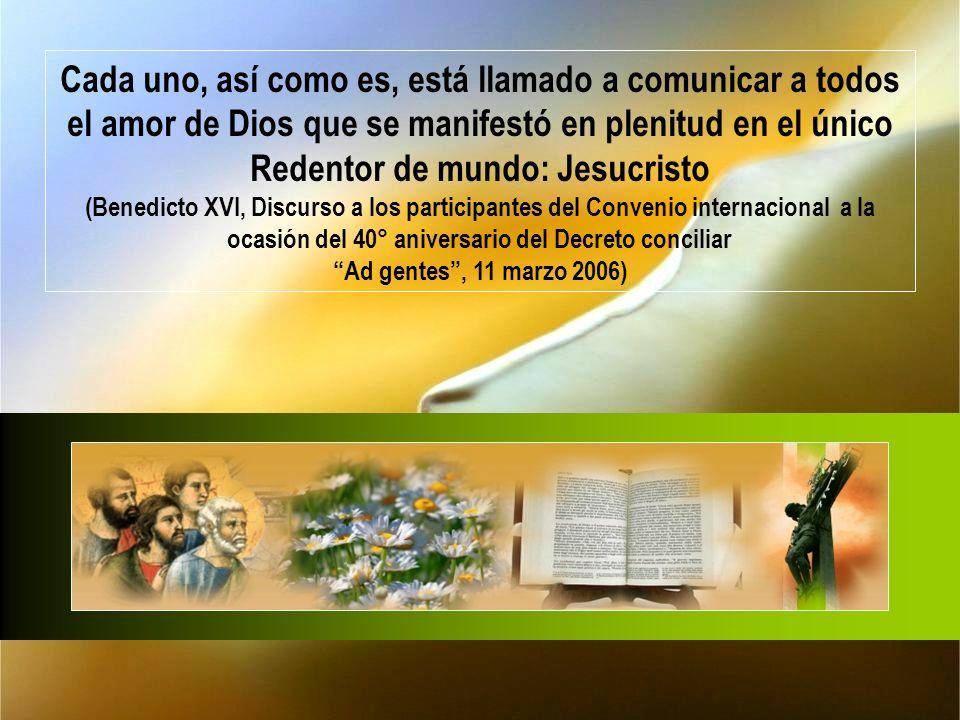 Para realizar una forma indispensable de servicio a la persona : «El anuncio y el testimonio del evangelio son el primer servicio que los cristianos tienen que brindar a todo el género humano
