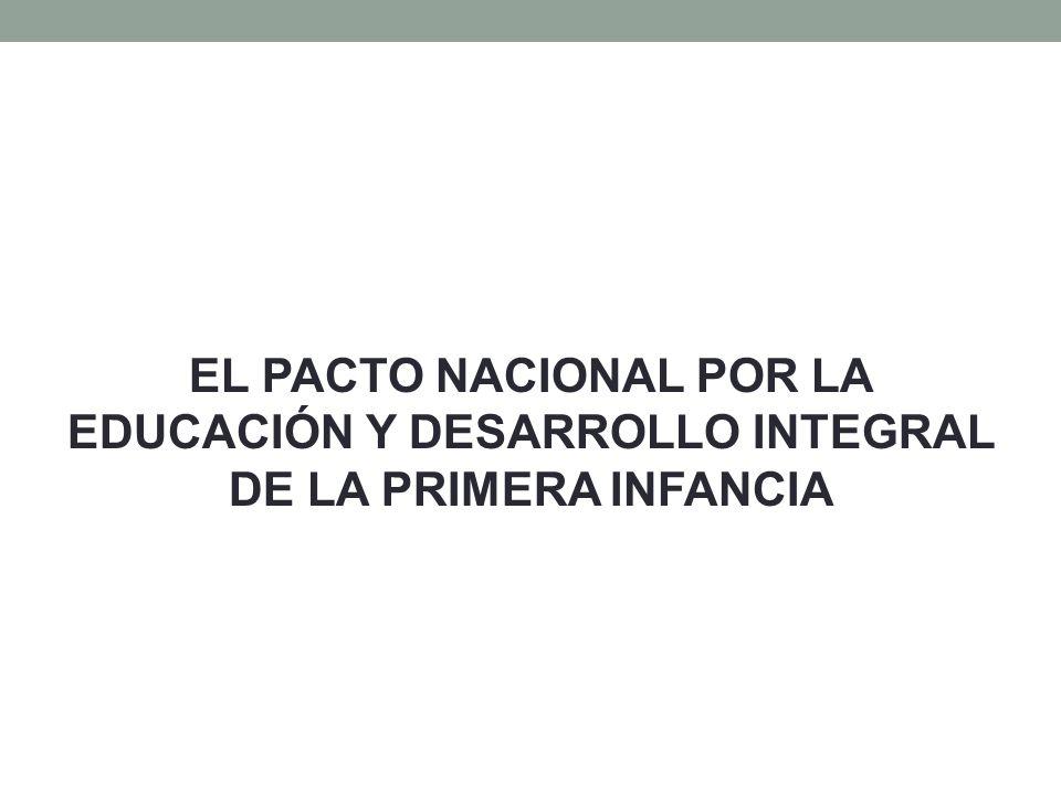 EL PACTO NACIONAL POR LA EDUCACIÓN Y DESARROLLO INTEGRAL DE LA PRIMERA INFANCIA