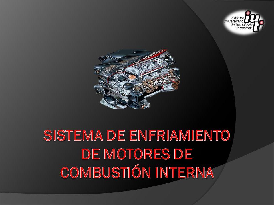 El Sistema de Enfriamiento de los Motores de Combustión Interna La temperatura es un parámetro que afecta de manera importante el funcionamiento de los motores de combustión interna modernos.