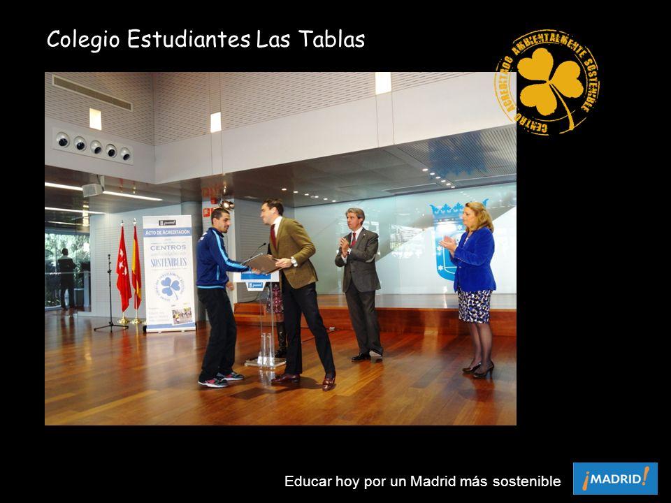 Colegio Estudiantes Las Tablas Educar hoy por un Madrid más sostenible