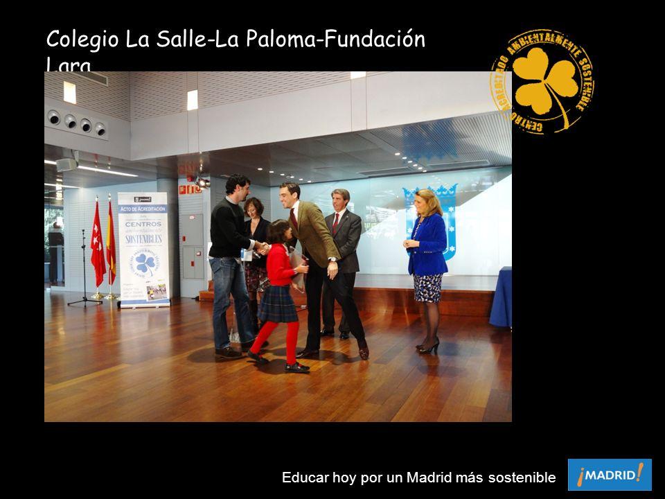 Colegio La Salle-La Paloma-Fundación Lara Educar hoy por un Madrid más sostenible
