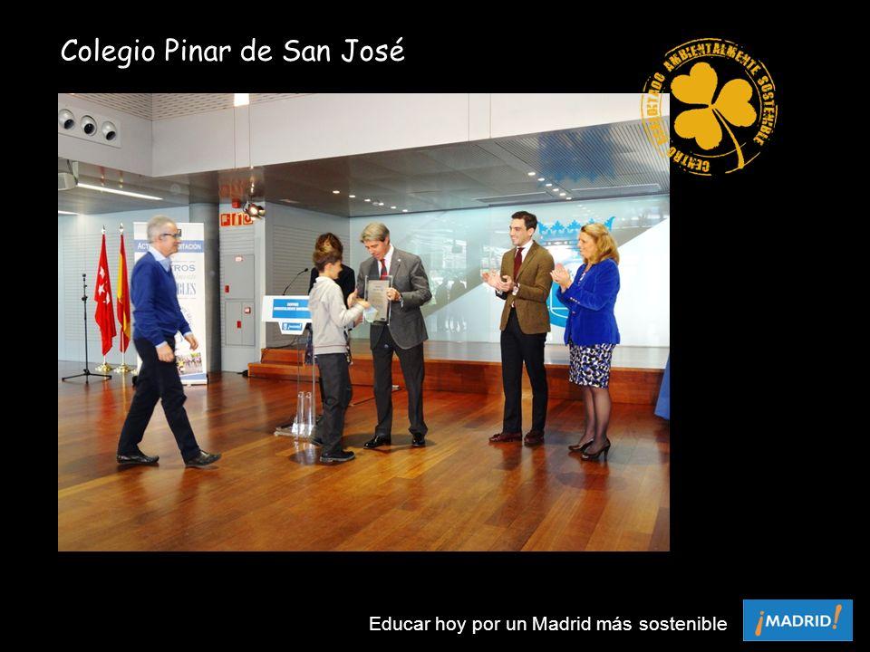 Colegio Pinar de San José Educar hoy por un Madrid más sostenible