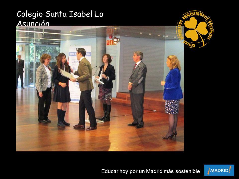 Colegio Santa Isabel La Asunción Educar hoy por un Madrid más sostenible