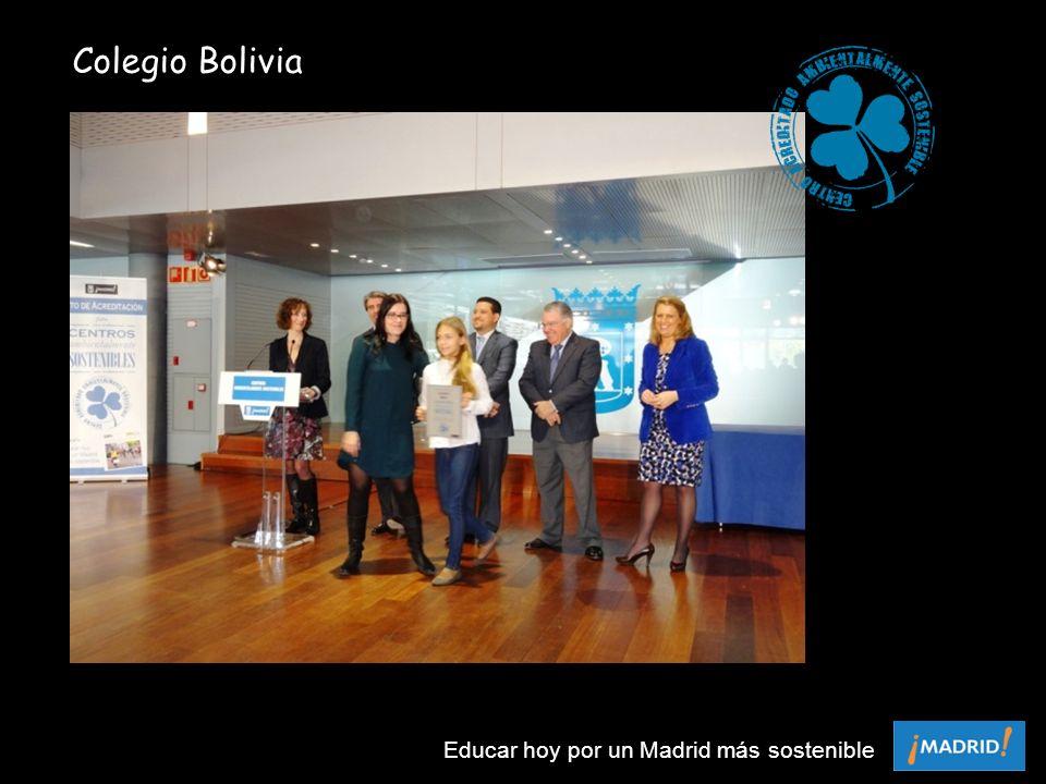 Colegio Bolivia Educar hoy por un Madrid más sostenible