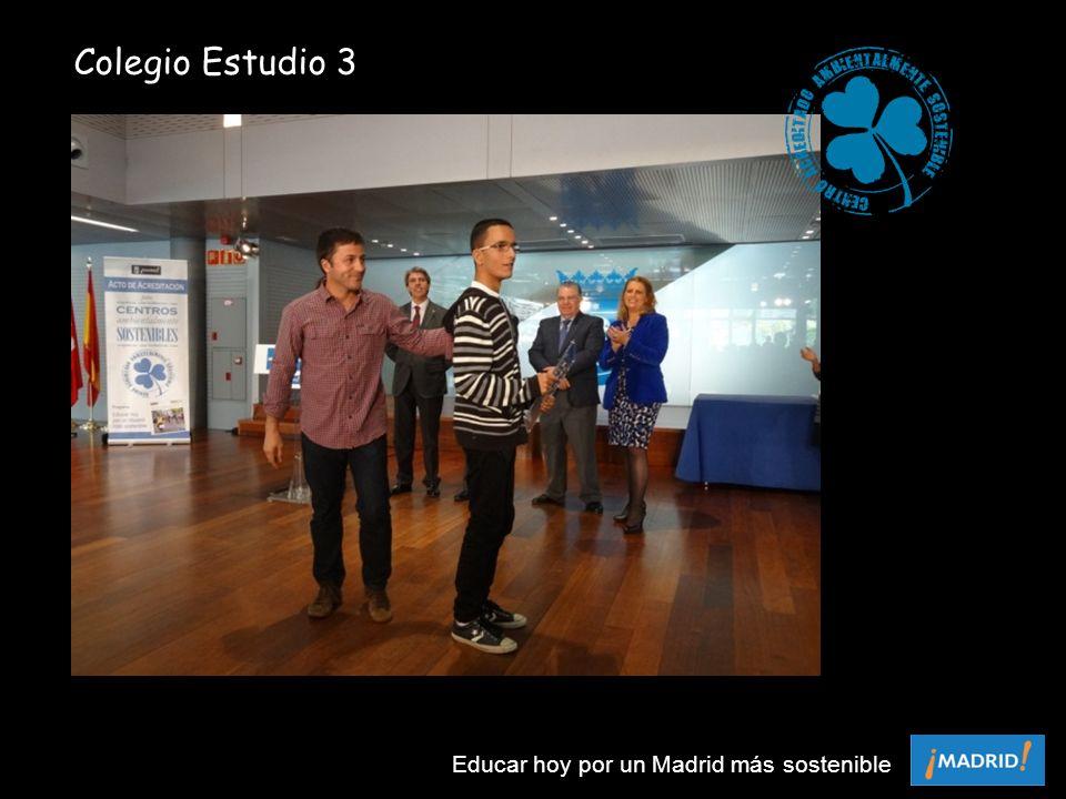 Colegio Estudio 3 Educar hoy por un Madrid más sostenible
