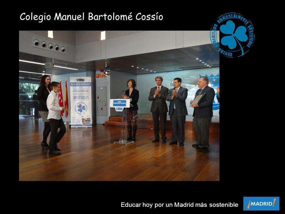Colegio Manuel Bartolomé Cossío Educar hoy por un Madrid más sostenible