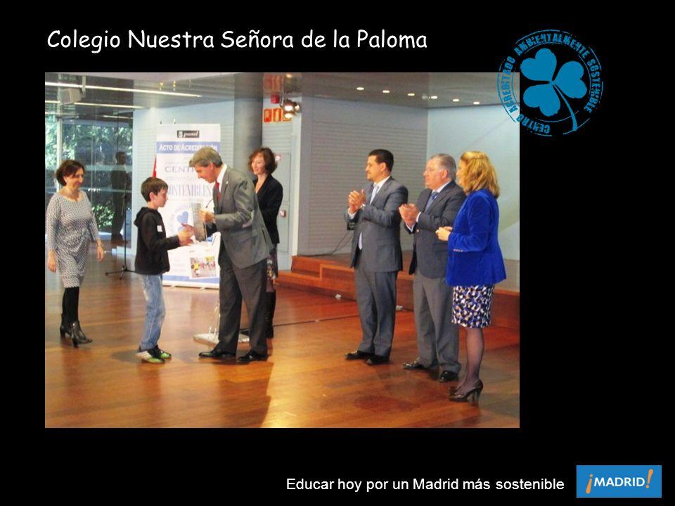 Colegio Nuestra Señora de la Paloma Educar hoy por un Madrid más sostenible