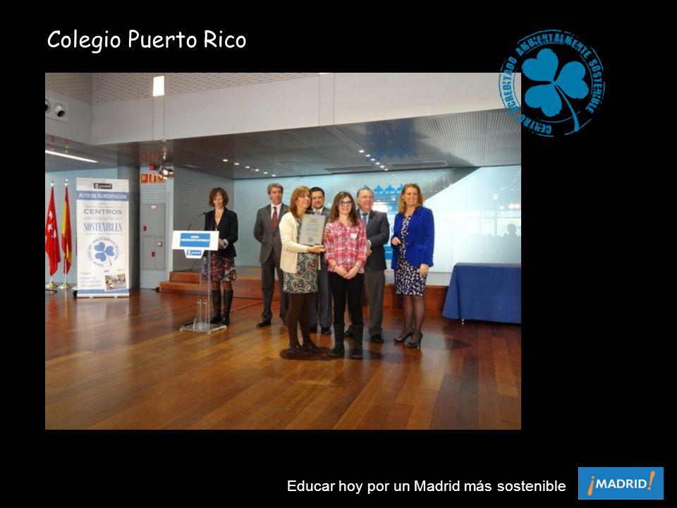 Colegio Puerto Rico Educar hoy por un Madrid más sostenible