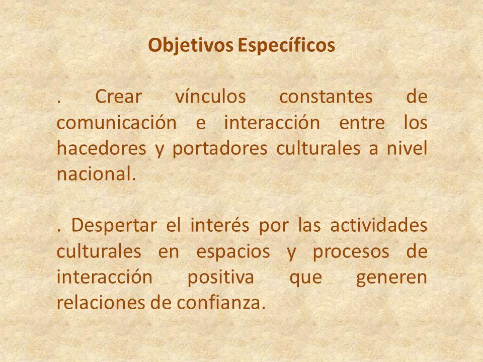 Objetivo General de la Red Brindar espacios de comunicación constante que enriquezcan el conocimiento y permitan la interacción de los hacedores y por