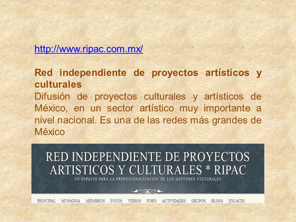 http://www.artesostenible.org/ Arte sostenible Espacio de vinculación y desarrollo de temas culturales y cursos. Proyectos Culturales, oportunidad de