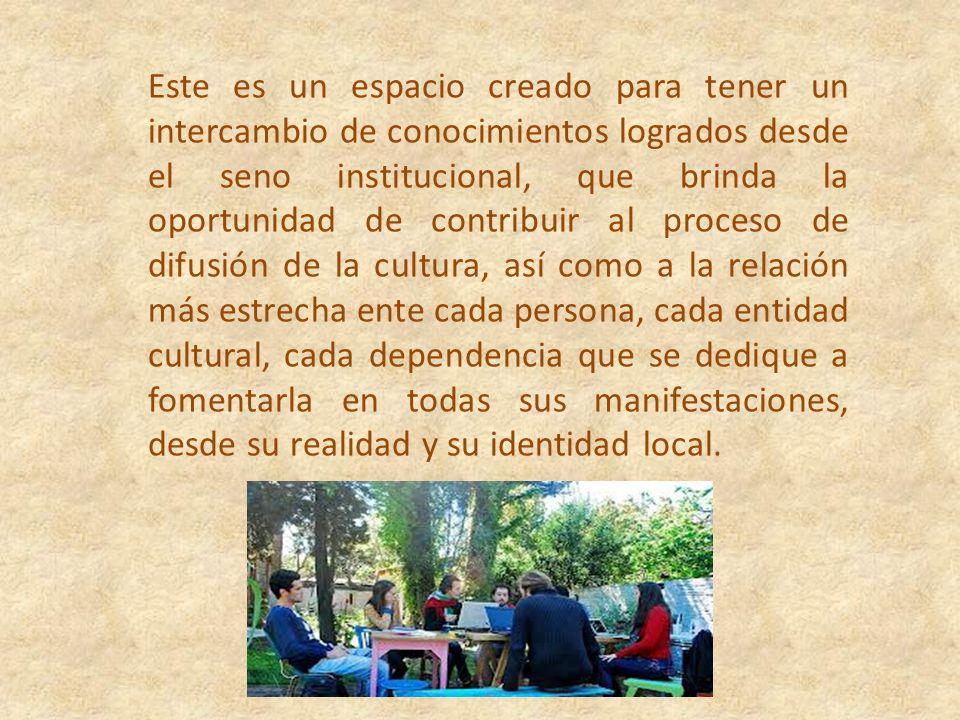La Red se constituye entonces, en un espacio cultural que propicia y estimula el diálogo espontáneo, la reflexión y la acción ciudadana en pro del bien común y la convivencia armoniosa entre los participantes.