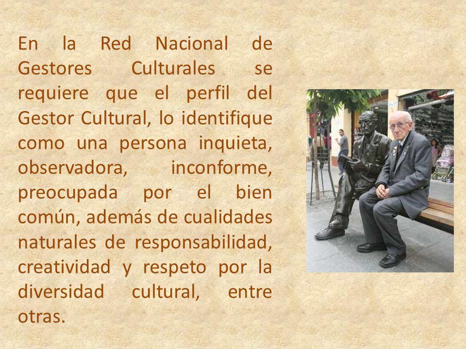 Esta Red de Gestores Culturales, está creada por y para aquellos protagonistas de la cultura local, que desde sus espacios generan acciones que contri