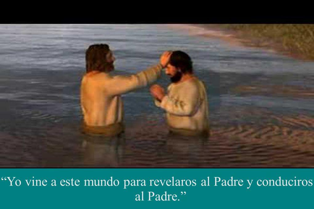 Yo vine a este mundo para revelaros al Padre y conduciros al Padre.