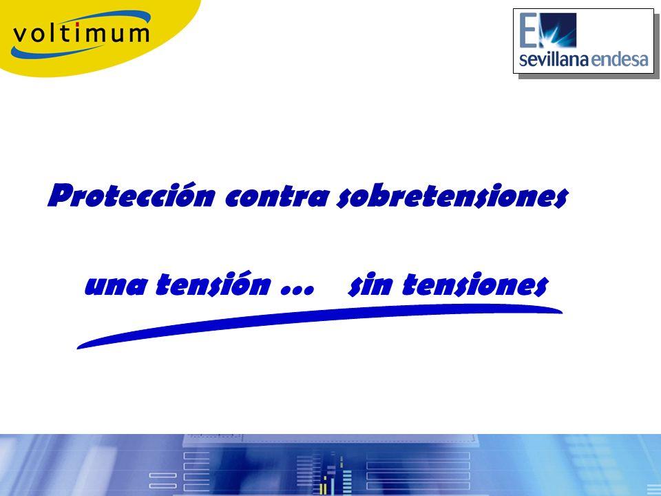 Parámetros de los protectores contra sobretensiones U c TENSIÓN MÁXIMA DE SERVICIO.