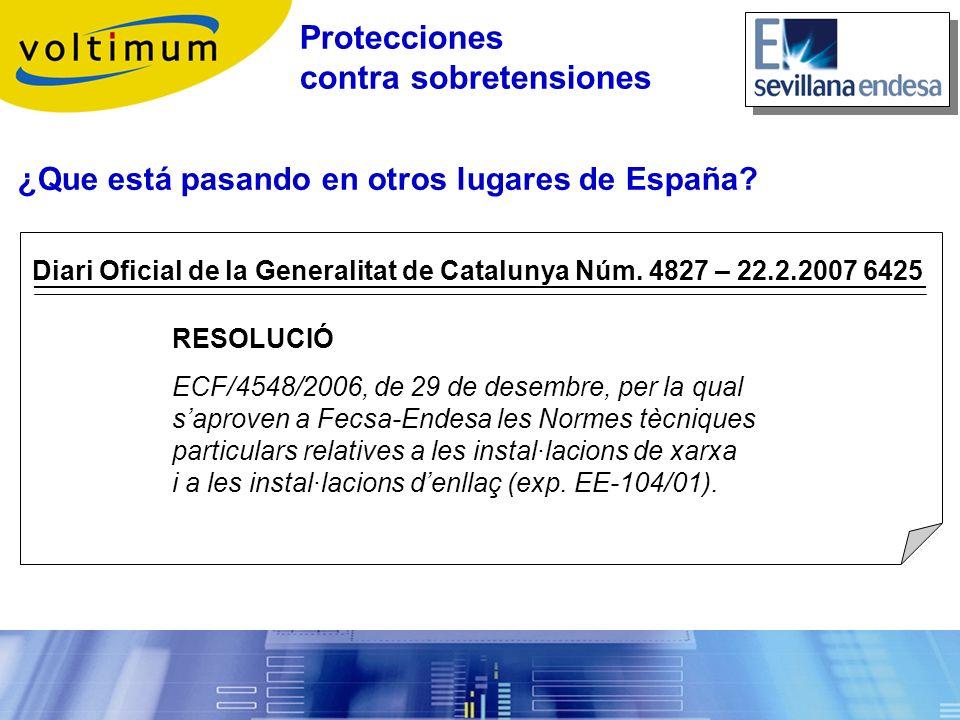 Diari Oficial de la Generalitat de Catalunya Núm. 4827 – 22.2.2007 6425 RESOLUCIÓ ECF/4548/2006, de 29 de desembre, per la qual saproven a Fecsa-Endes