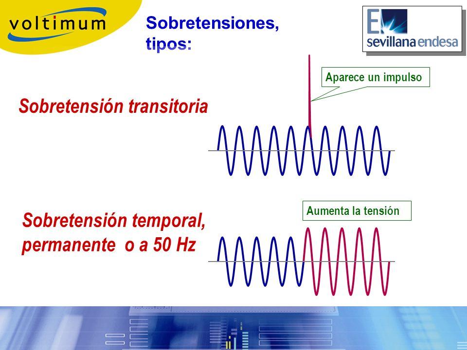 Las sobretensiones temporales, también llamadas sobretensiones permanentes, o sobretensiones a frec.