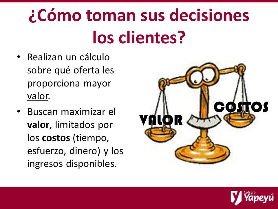 ¿Cómo toman sus decisiones los clientes.