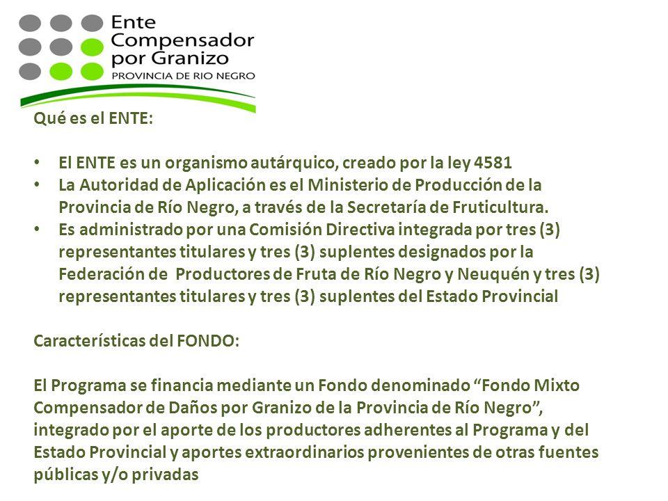 Qué es el ENTE: El ENTE es un organismo autárquico, creado por la ley 4581 La Autoridad de Aplicación es el Ministerio de Producción de la Provincia d