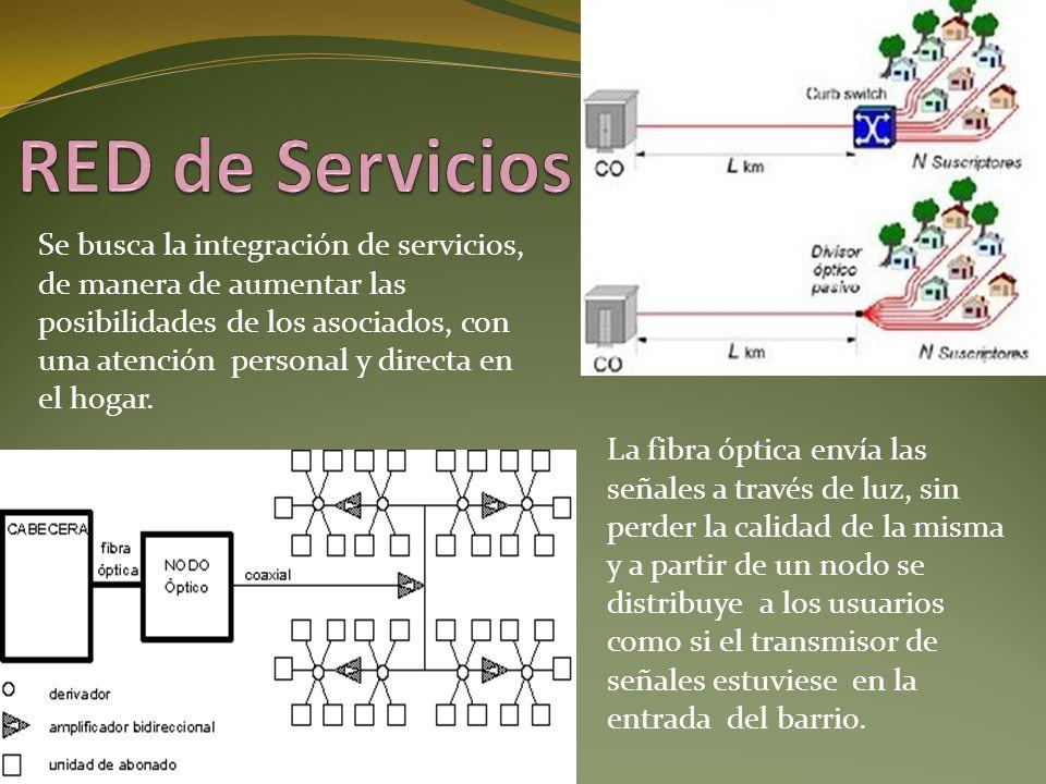 Se busca la integración de servicios, de manera de aumentar las posibilidades de los asociados, con una atención personal y directa en el hogar. La fi