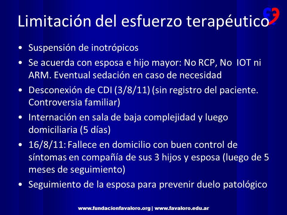 www.fundacionfavaloro.org | www.favaloro.edu.ar Insuficiencia cardíaca avanzada Daño miocárdico estructural (fracción de eyección <30%) y síntomas en reposo.