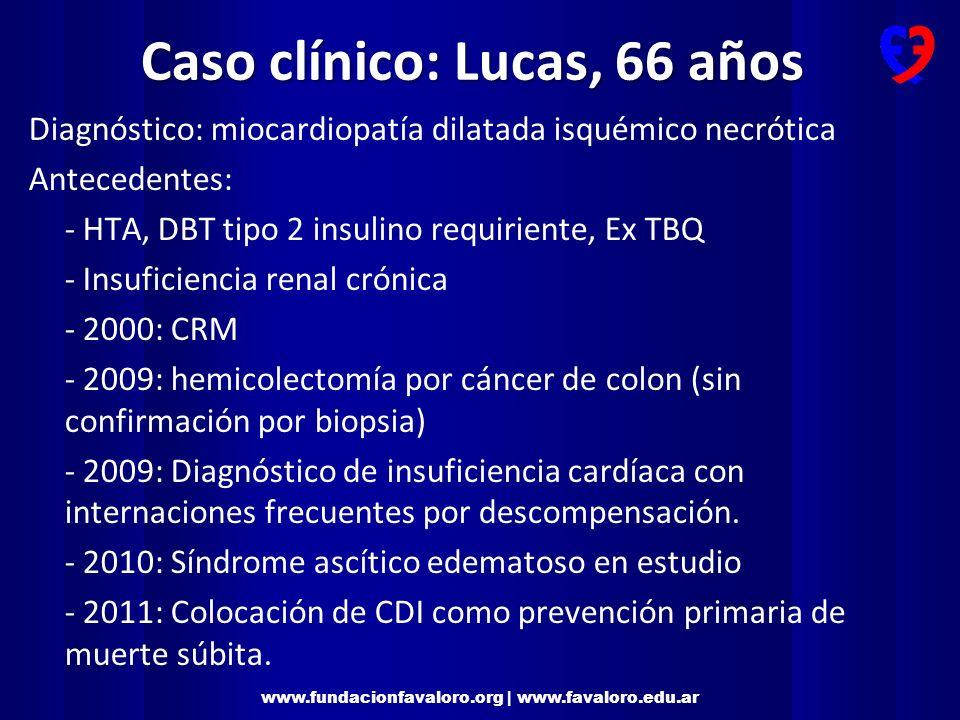 www.fundacionfavaloro.org | www.favaloro.edu.ar Estudios diagnósticos Ecocardiograma: disfunción severa biventricular.