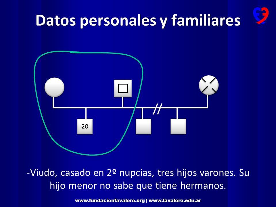 www.fundacionfavaloro.org | www.favaloro.edu.ar Datos personales y sociales -Trabajo: en rubro gráfico.