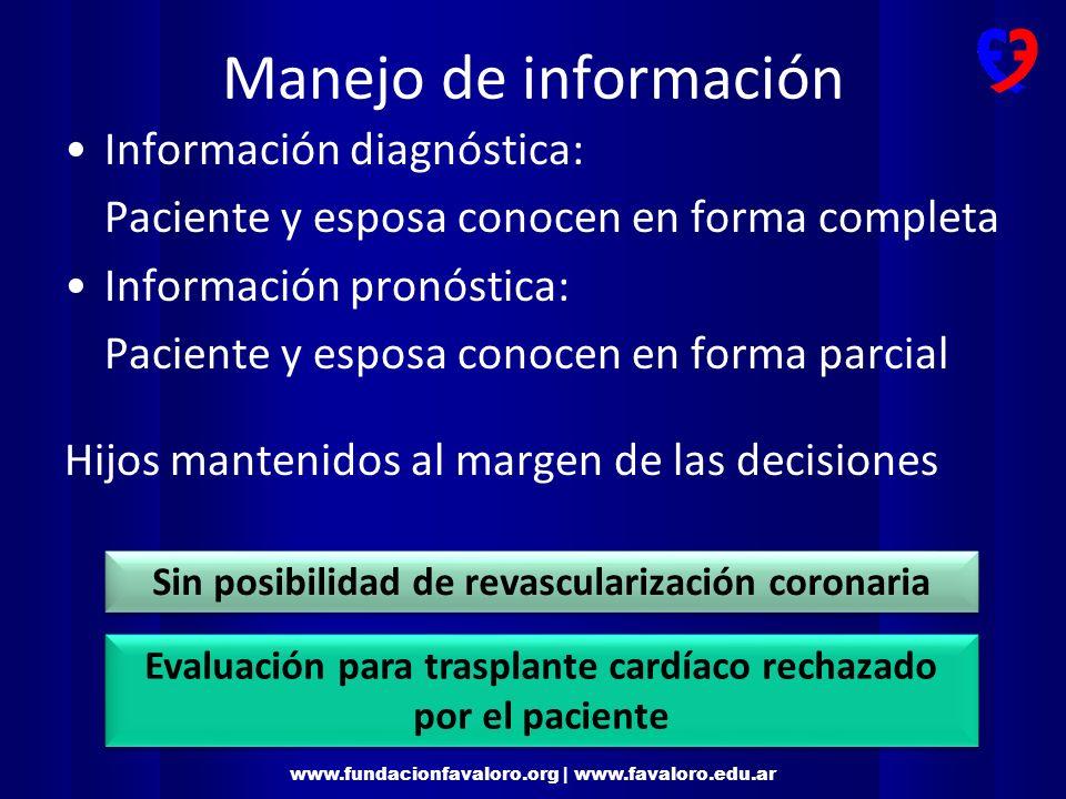 www.fundacionfavaloro.org | www.favaloro.edu.ar Seguimiento CPC Aspecto neurológico: Delirium mixto: somnolencia, excitación psicomotríz, mioclonías, disartria, anomia, alucinaciones.