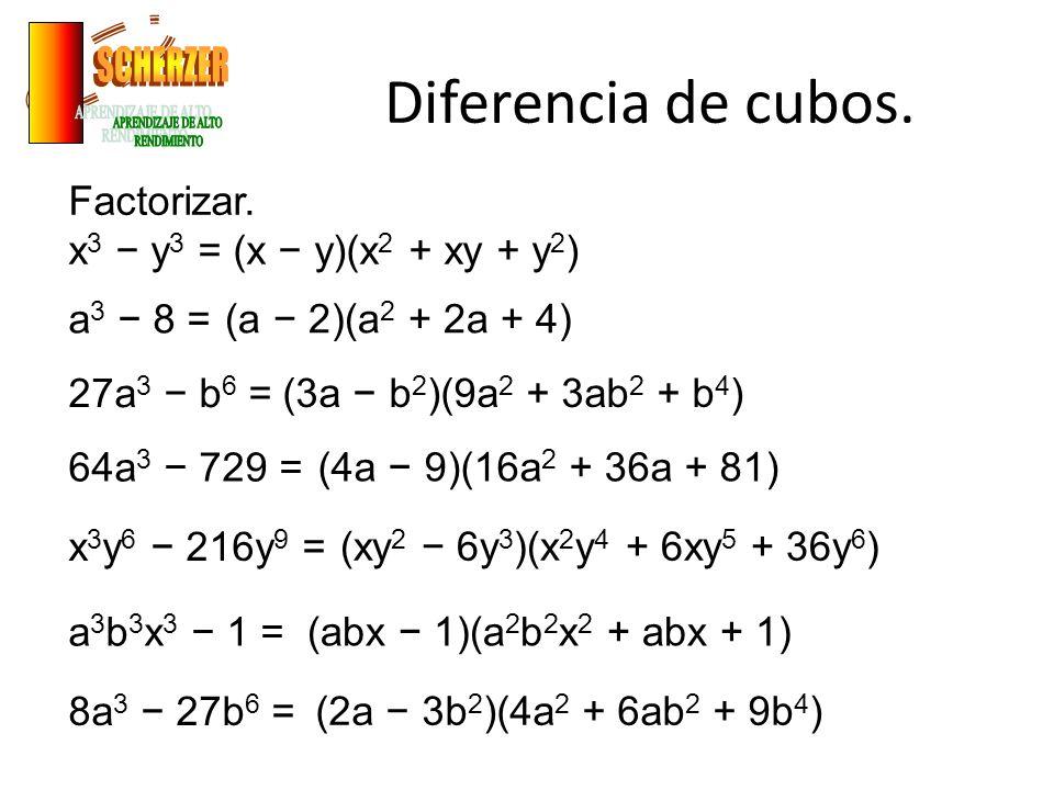Diferencia de cubos.Factorizar.