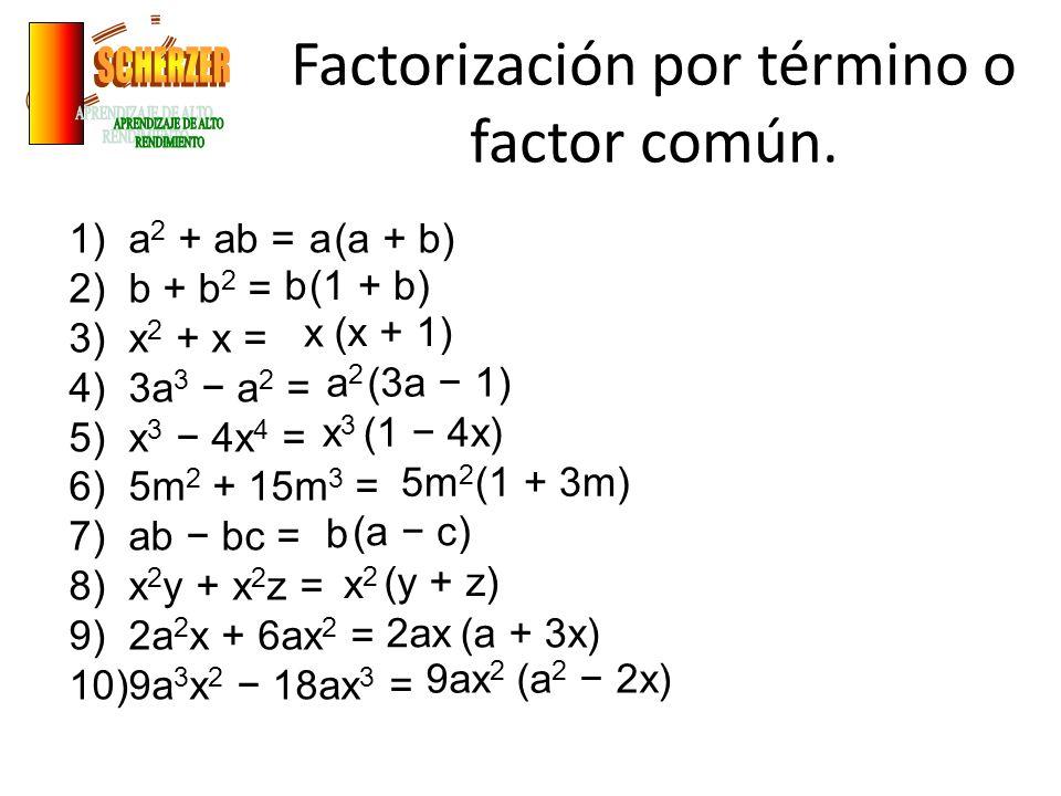 FACTORIZACIÓN POR FÓRMULA TRINOMIO DE LA FORMA X 2 +BX+C.