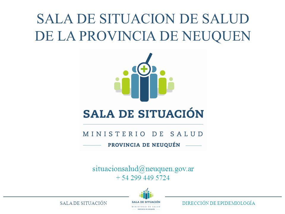 SALA DE SITUACION DE SALUD DE LA PROVINCIA DE NEUQUEN situacionsalud@neuquen.gov.ar + 54 299 449 5724