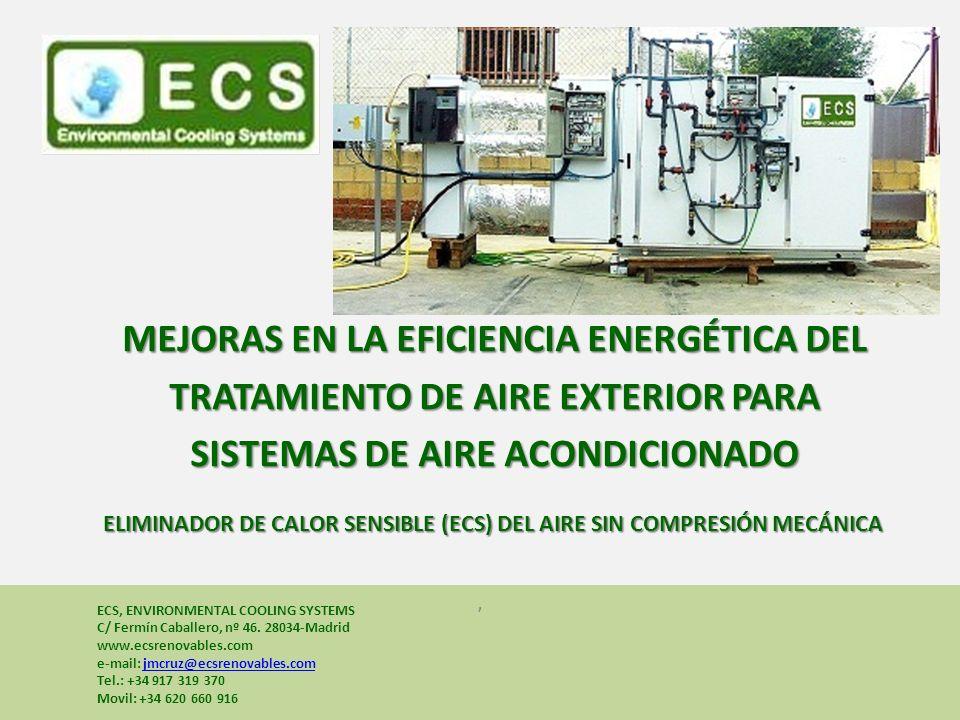 , Bienestar, calidad y compromiso con el medio ambiente y compromiso con el medio ambiente ECS, ENVIRONMENTAL COOLING SYSTEMS C/ Fermín Caballero, nº