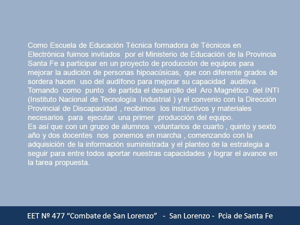 Como Escuela de Educación Técnica formadora de Técnicos en Electrónica fuimos invitados por el Ministerio de Educación de la Provincia Santa Fe a part