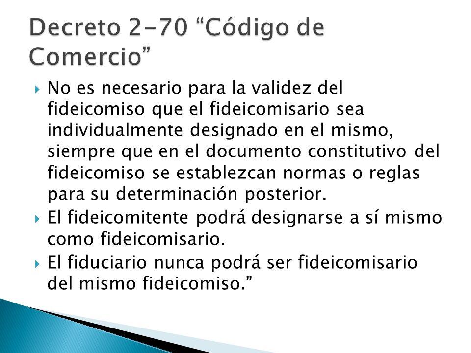 Artículo No.778 (Derechos del Fideicomisario). …5º.