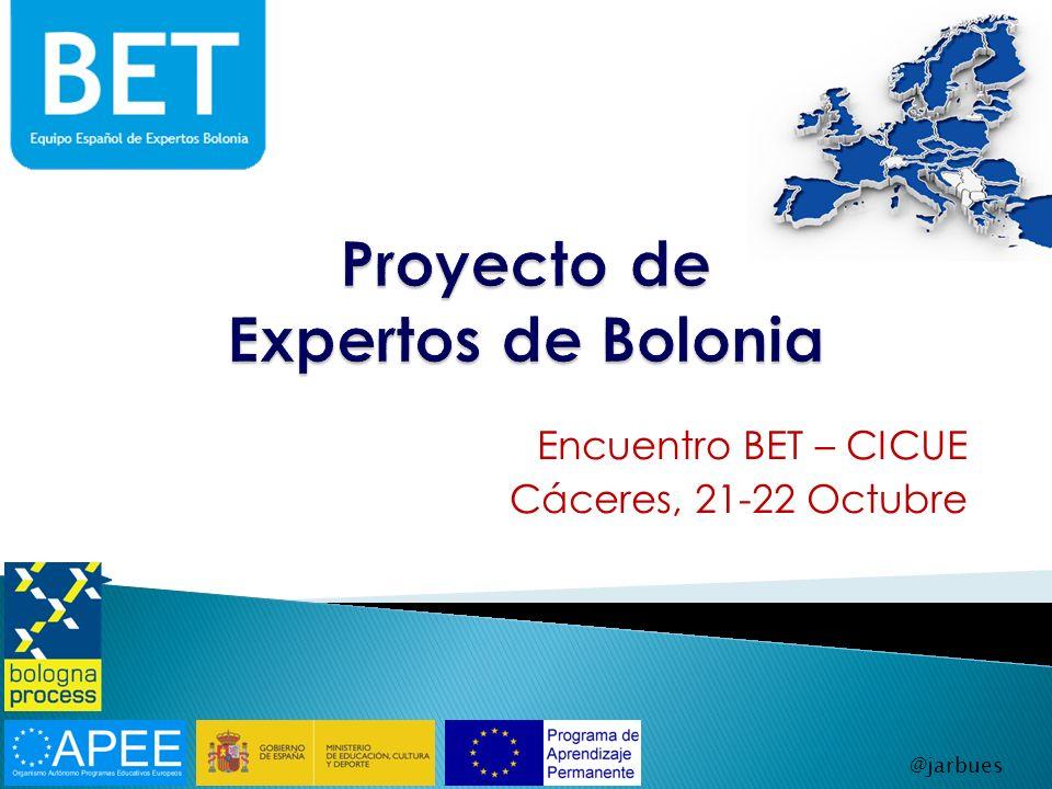 Encuentro BET – CICUE Cáceres, 21-22 Octubre @jarbues
