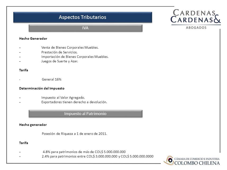 Aspectos Tributarios Hecho Generador – Venta de Bienes Corporales Muebles.