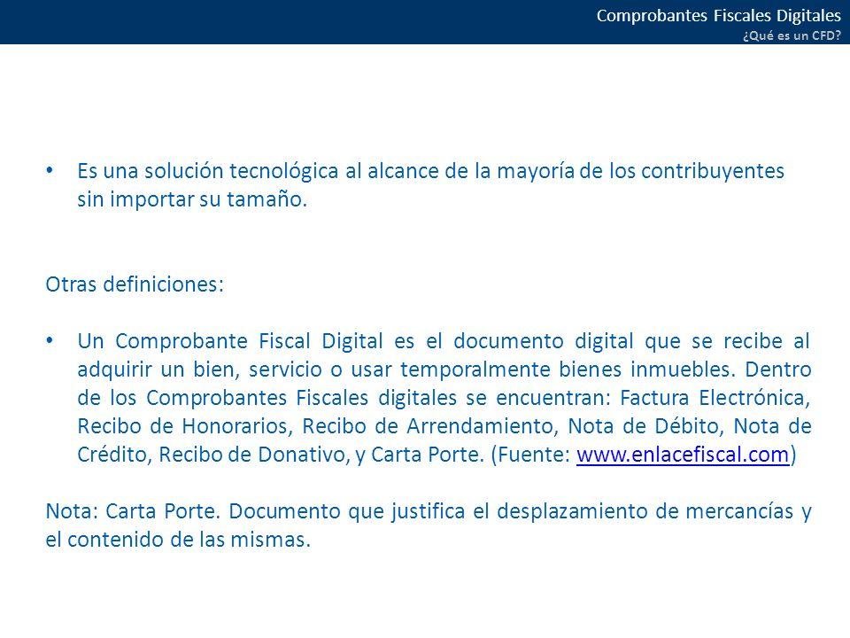 Comprobantes Fiscales Digitales ¿Qué es un CFD.