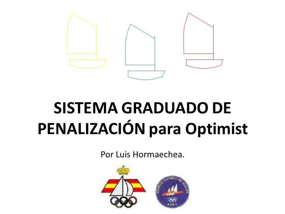 SISTEMA GRADUADO DE PENALIZACIÓN para Optimist Por Luis Hormaechea.