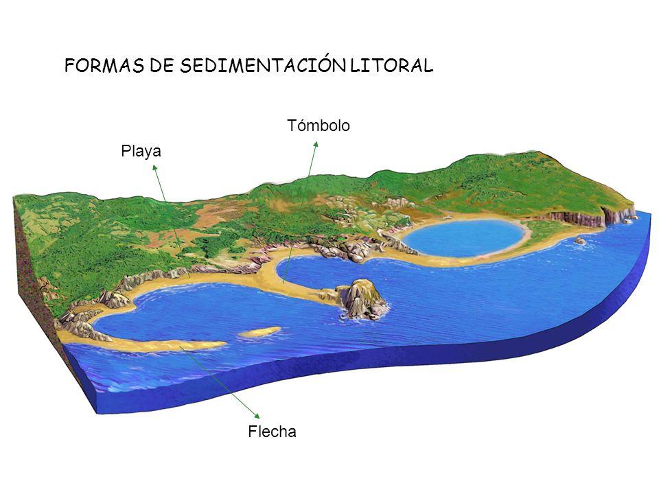 FORMAS DE SEDIMENTACIÓN LITORAL Flecha Playa Tómbolo