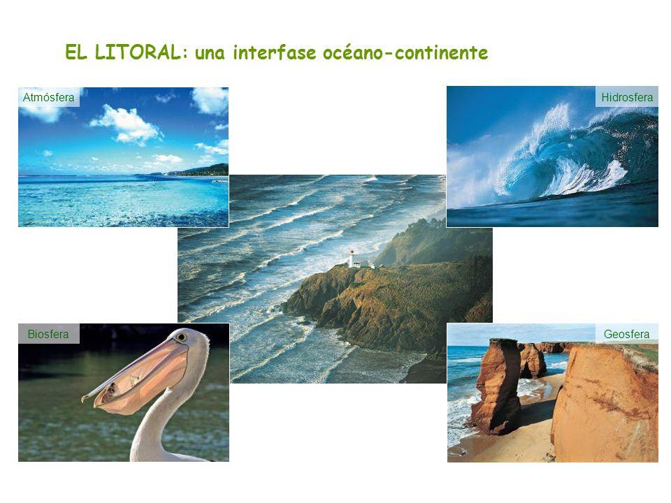 EL LITORAL: una interfase océano-continente AtmósferaHidrosfera GeosferaBiosfera