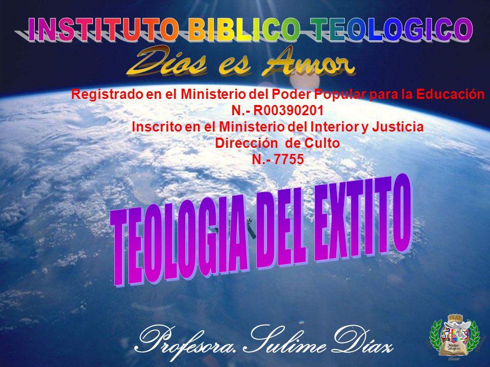 Registrado en el Ministerio del Poder Popular para la Educación N.- R00390201 Inscrito en el Ministerio del Interior y Justicia Dirección de Culto N.- 7755 Profesora.SulimeDíaz