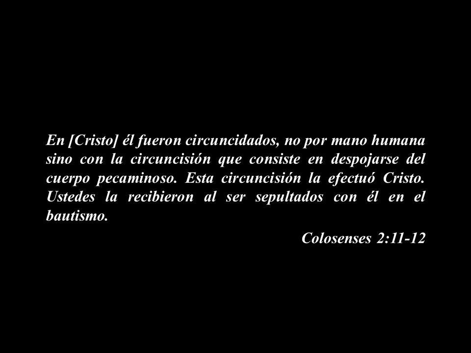 En [Cristo] él fueron circuncidados, no por mano humana sino con la circuncisión que consiste en despojarse del cuerpo pecaminoso. Esta circuncisión l