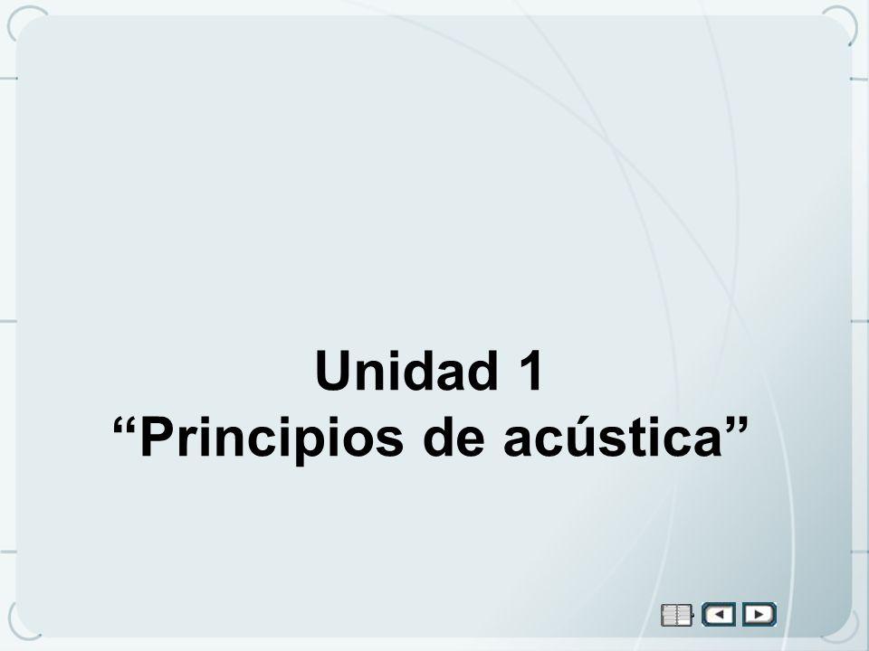 Unidad 1 Principios de acústica