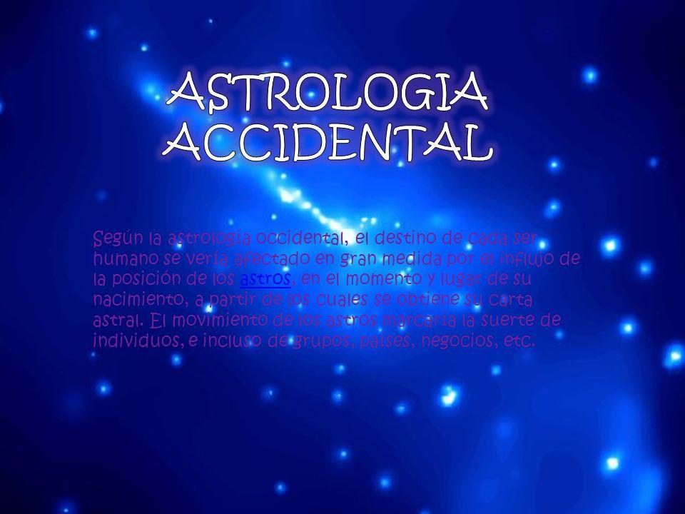 Según la astrología occidental, el destino de cada ser humano se vería afectado en gran medida por el influjo de la posición de los astros, en el mome