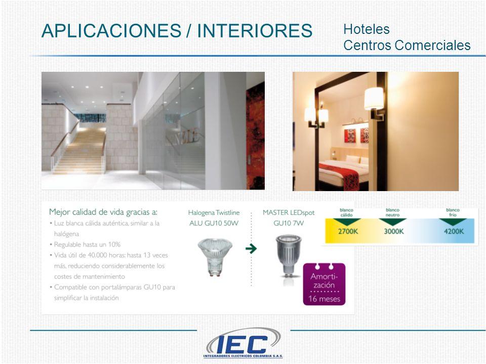 APLICACIONES / INTERIORES Hoteles Centros Comerciales