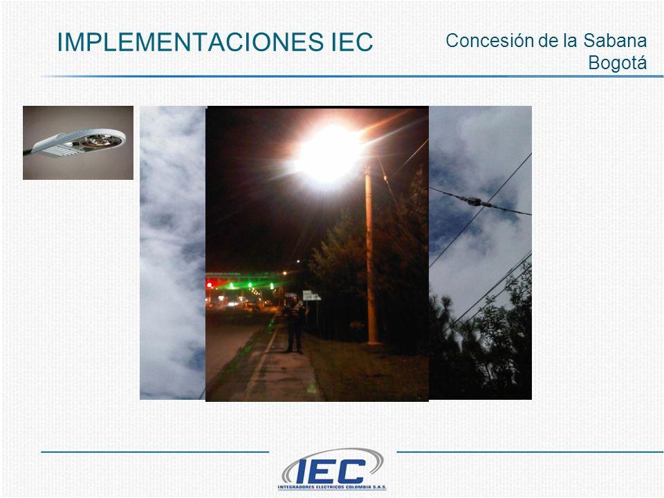 IMPLEMENTACIONES IEC Concesión de la Sabana Bogotá