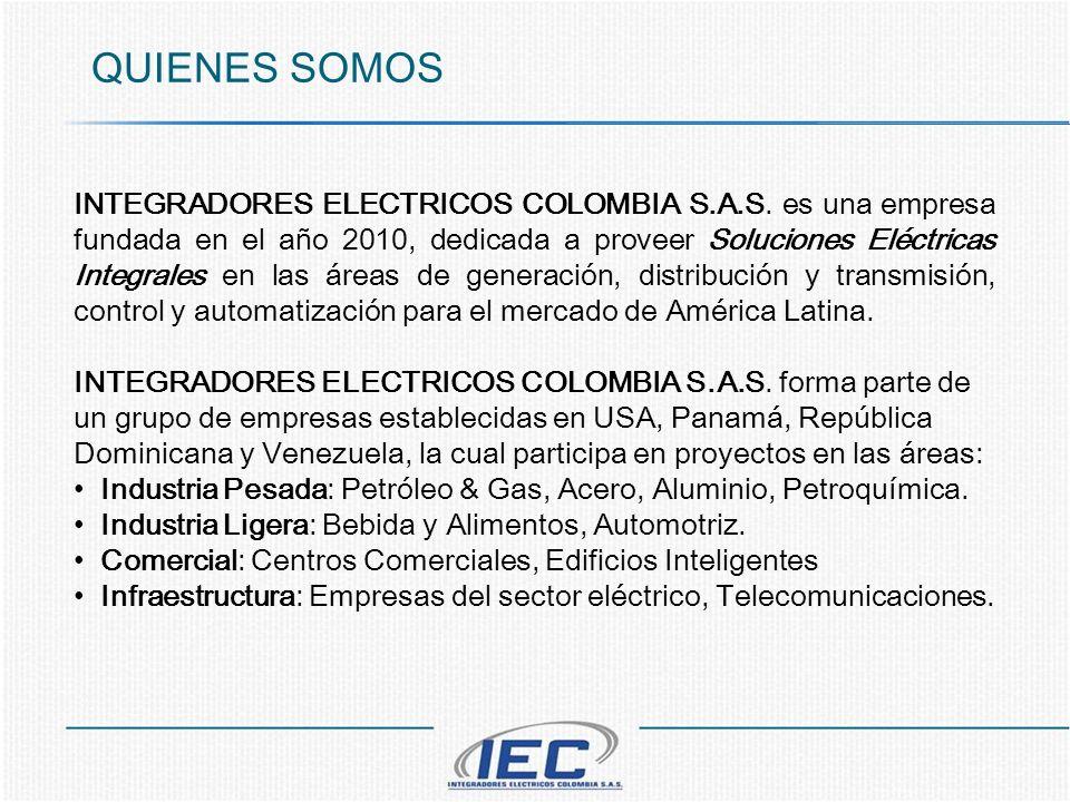 QUIENES SOMOS INTEGRADORES ELECTRICOS COLOMBIA S.A.S. es una empresa fundada en el año 2010, dedicada a proveer Soluciones Eléctricas Integrales en la