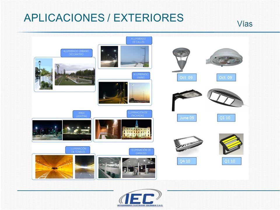 APLICACIONES / EXTERIORES Vías